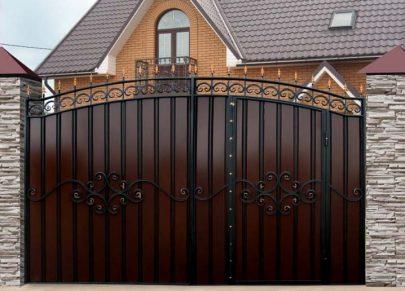 Ворота МПА со встроенной калиткой