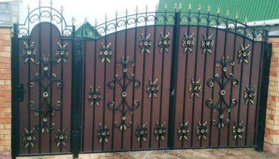Ворота МСА с калиткой