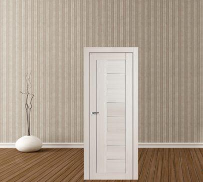 Дверь 17X ЭшВайт Мелинга Стекло Матовое