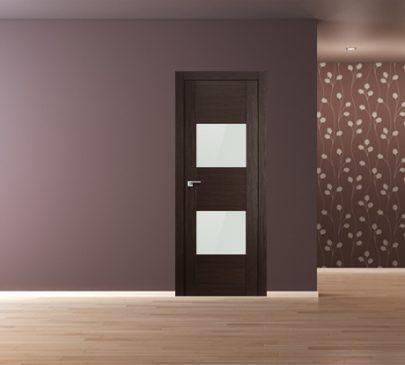 Дверь 21X Венге Мелинга Белый глянцевый лак