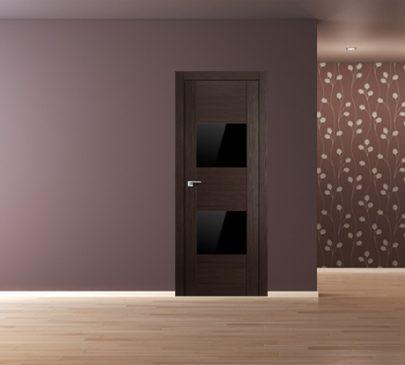 Дверь 21X Венге Мелинга Чёрный глянцевый лак