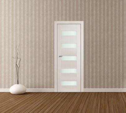 Дверь 29X ЭшВайт Мелинга Стекло Матовое
