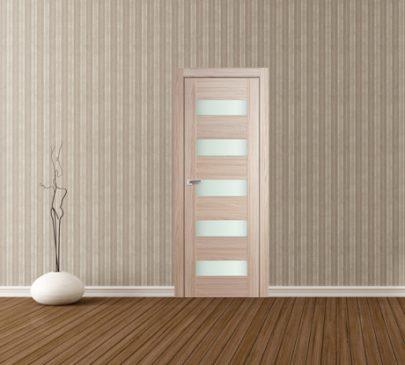 Дверь 29X Капучино Мелинга Стекло Матовое