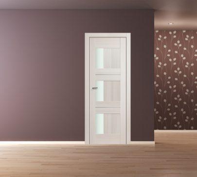 Дверь 35X ЭшВайт Мелинга Стекло Матовое