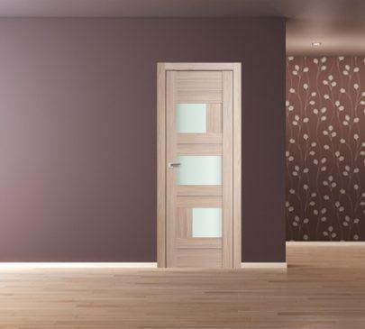 Дверь 39X Капучино Мелинга Стекло Матовое