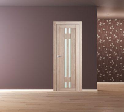 Дверь 40X Капучино Мелинга Стекло Матовое