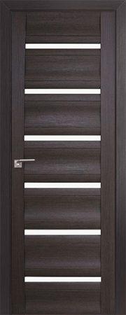 Дверь 57x Венге мелинга, стекло матовое