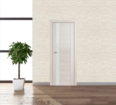 Дверь 62x Эш Вайт мелинга, белый лак