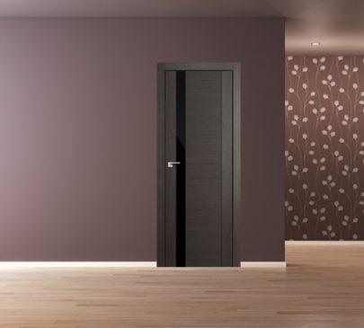 Дверь 62x Грей мелинга, чёрный лак