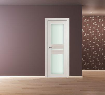 Дверь 70X ЭшВайт Мелинга Стекло Матовое