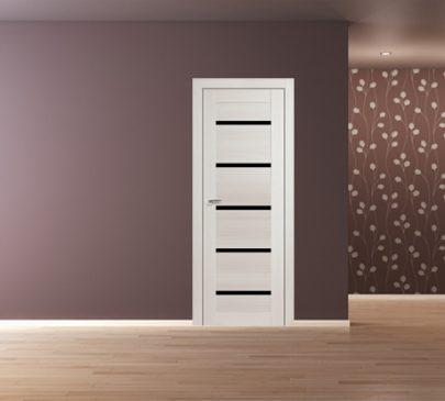 Дверь 7X ЭшВайт Мелинга Чёрный триплекс