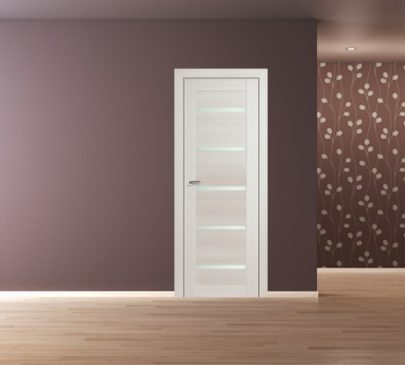Дверь 7X ЭшВайт Мелинга Стекло Матовое