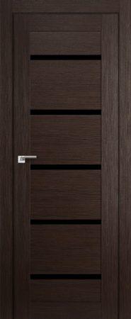 Дверь 7X Венге Мелинга Чёрный триплекс
