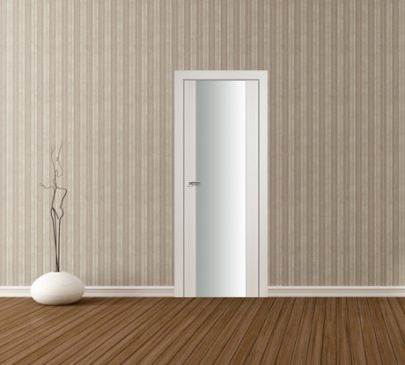 Дверь 8X ЭшВайт Мелинга Белый триплекс