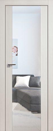 Дверь 8x Эш Вайт мелинга, зеркальный триплекс