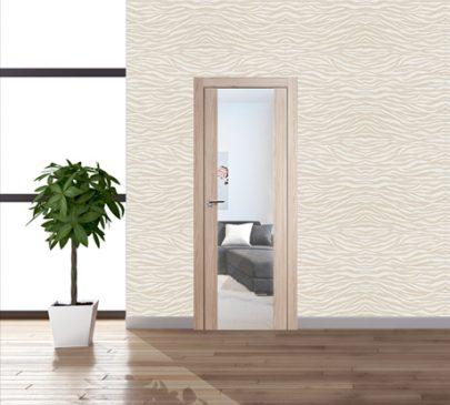 Дверь 8x Капучино мелинга, зеркальный триплекс