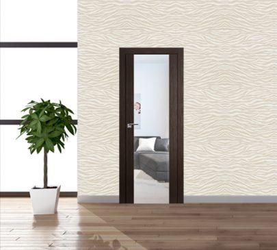 Дверь 8x Венге мелинга, зеркальный триплекс