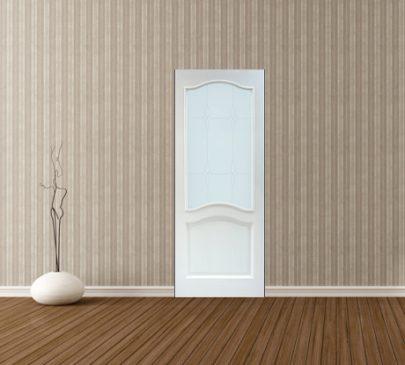 Дверь ДО 7 Белый лоск, Стекло Мателюкс