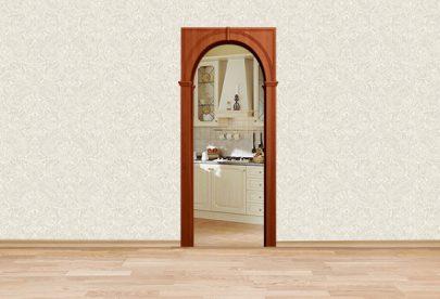 Дверь Межкомнатная арка Палермо Итальянский орех