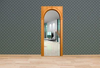Дверь Межкомнатная арка Палермо Миланский орех