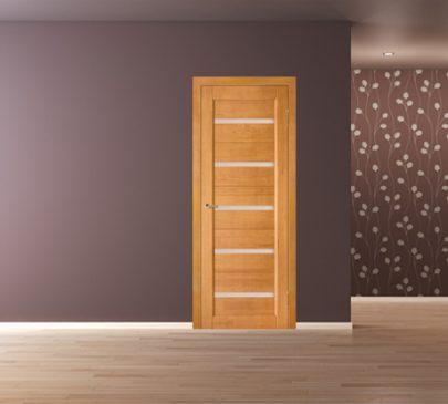 Дверь Вега 5 ЧО, светлый орех