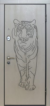 Дверь Бастион №10 с зеркалом