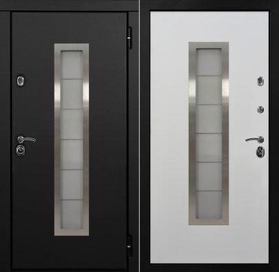 Дверь Альфа Pro графит + белый