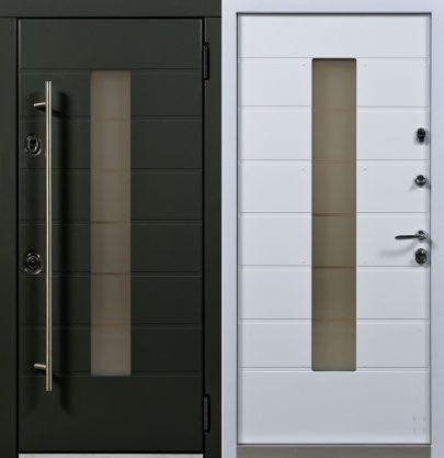 Дверь Аляска графит + белый
